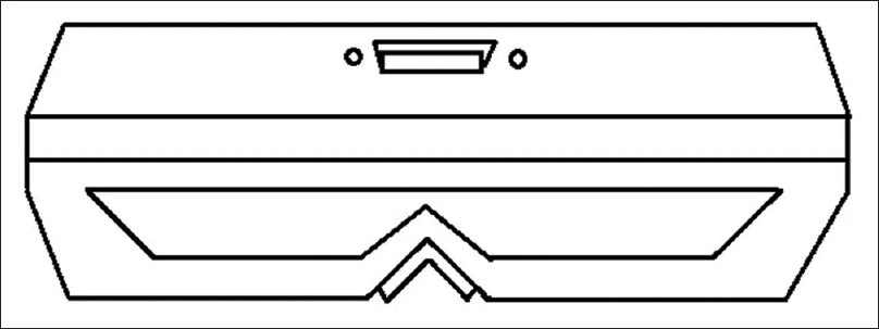 Figure 12: Optical vernier interpupillary distance ruler